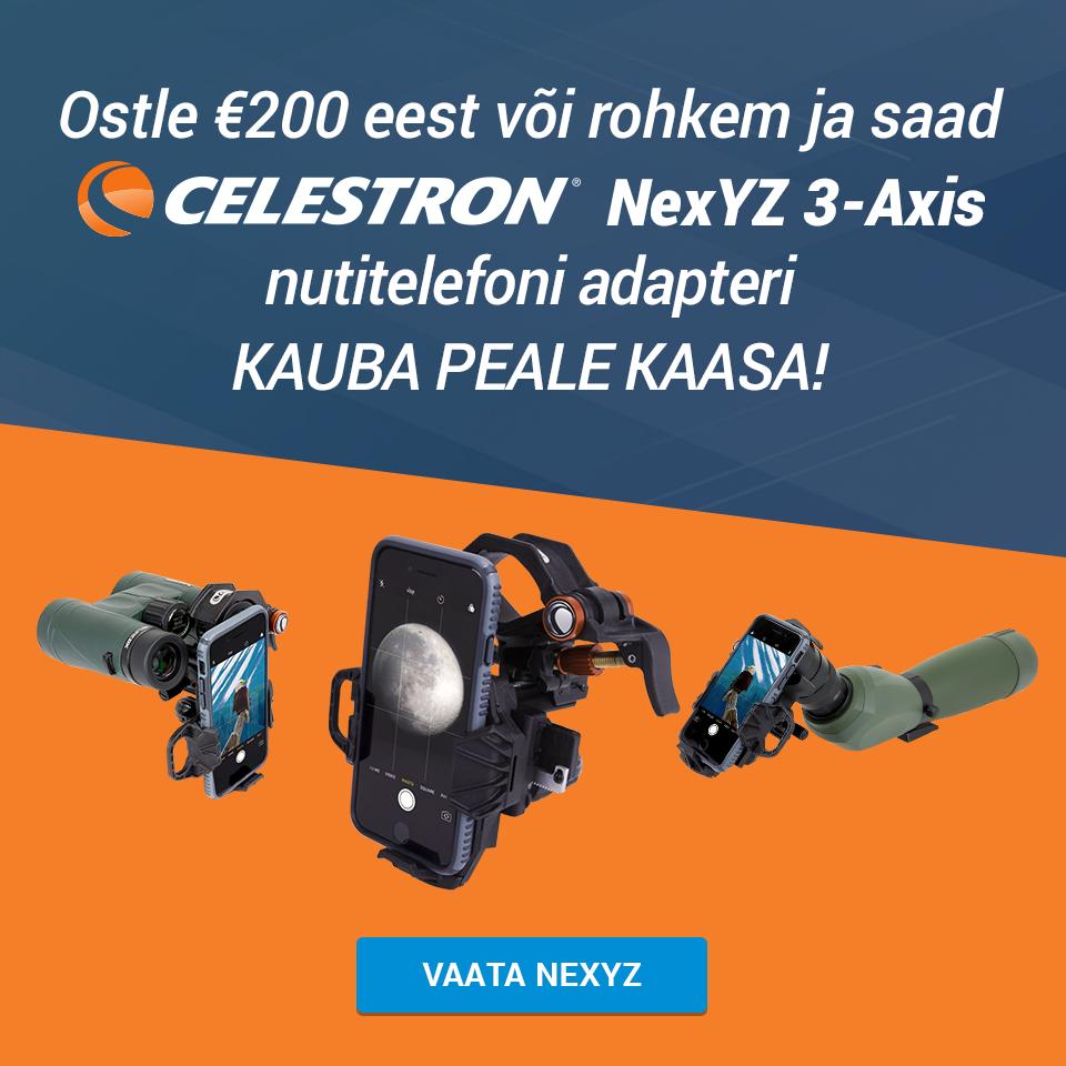 Celestron NexYZ 3-teljeline universaalne nutitelefoni adapter