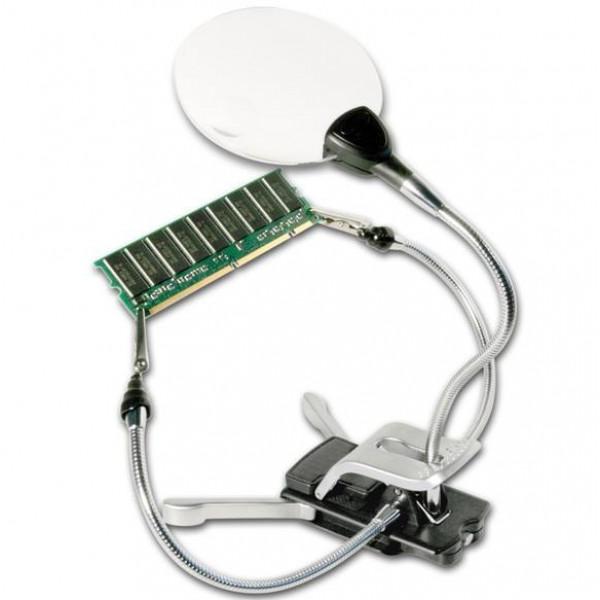 Bresser 2x/4x abikäsi, LED-valgustusega luup