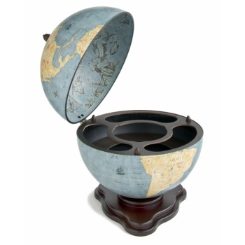 "Zoffoli ""Galileo""- Blue Dust bar globe"