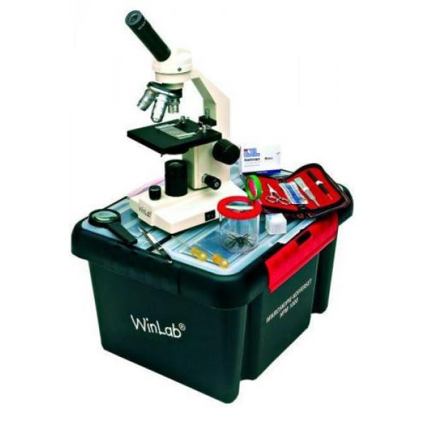 Windaus HPM 1000 mikroskoop koos kohver