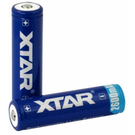 XTAR 18650 3.7V 2600mAh Li-ion akumulaatorid