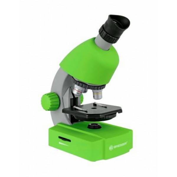 Bresser Junior 40x-640x mikroskoop nutitelefoni adapteriga (roheline)